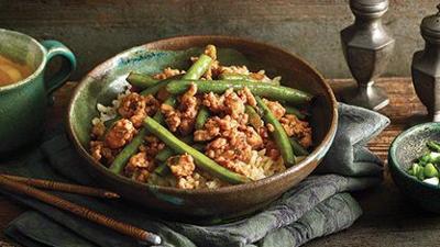 Asian Turkey and Green Bean Sauté