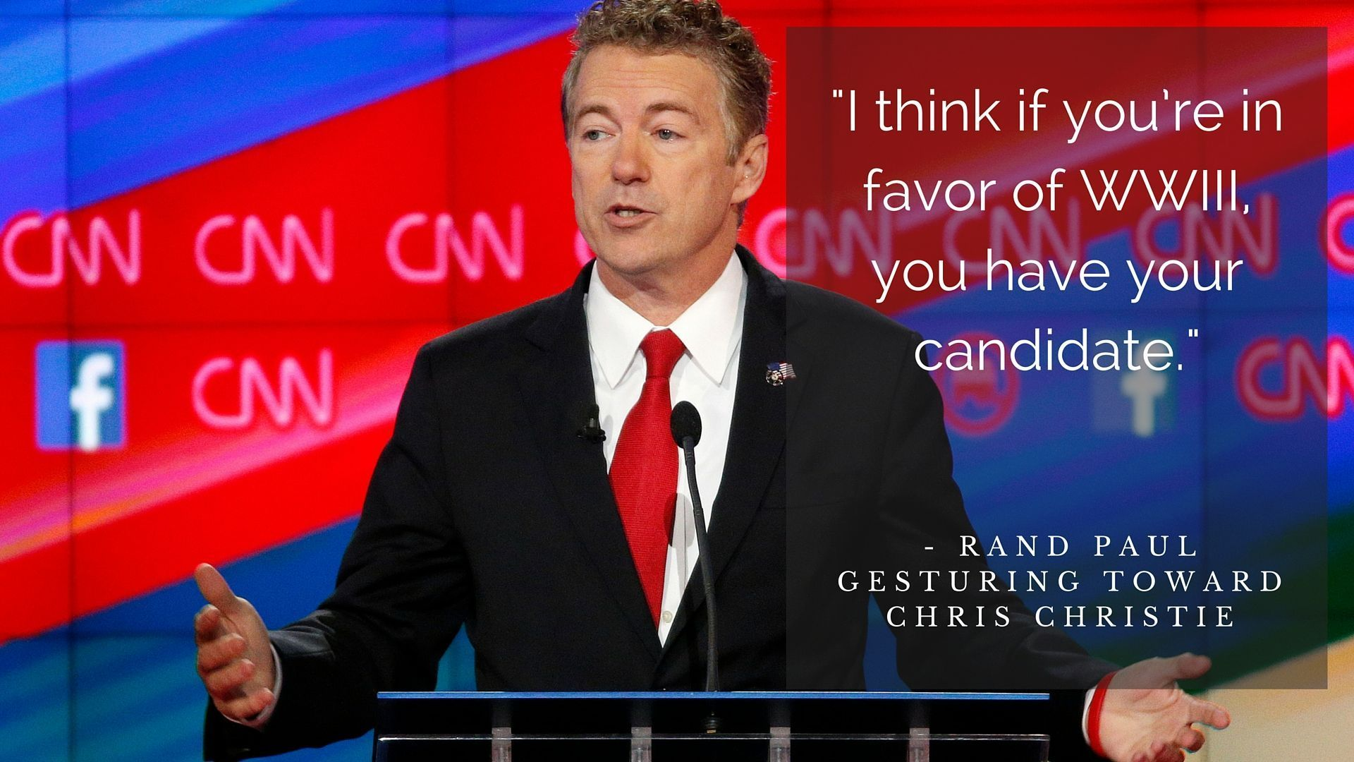 When he had this memorable moment during that same debate.