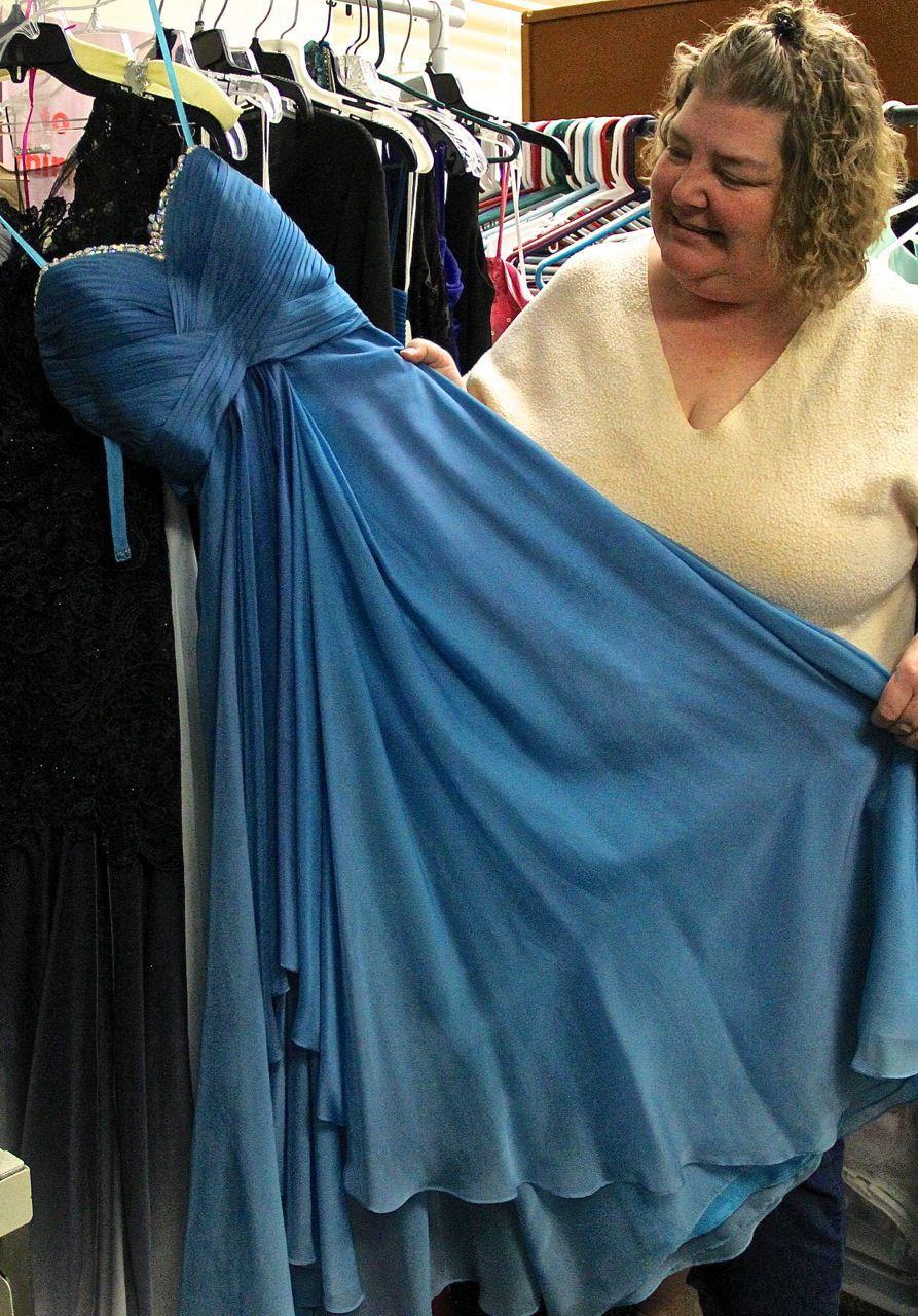 Donated prom dresses