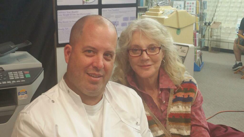 Sean Dobbins and Blythe Danner