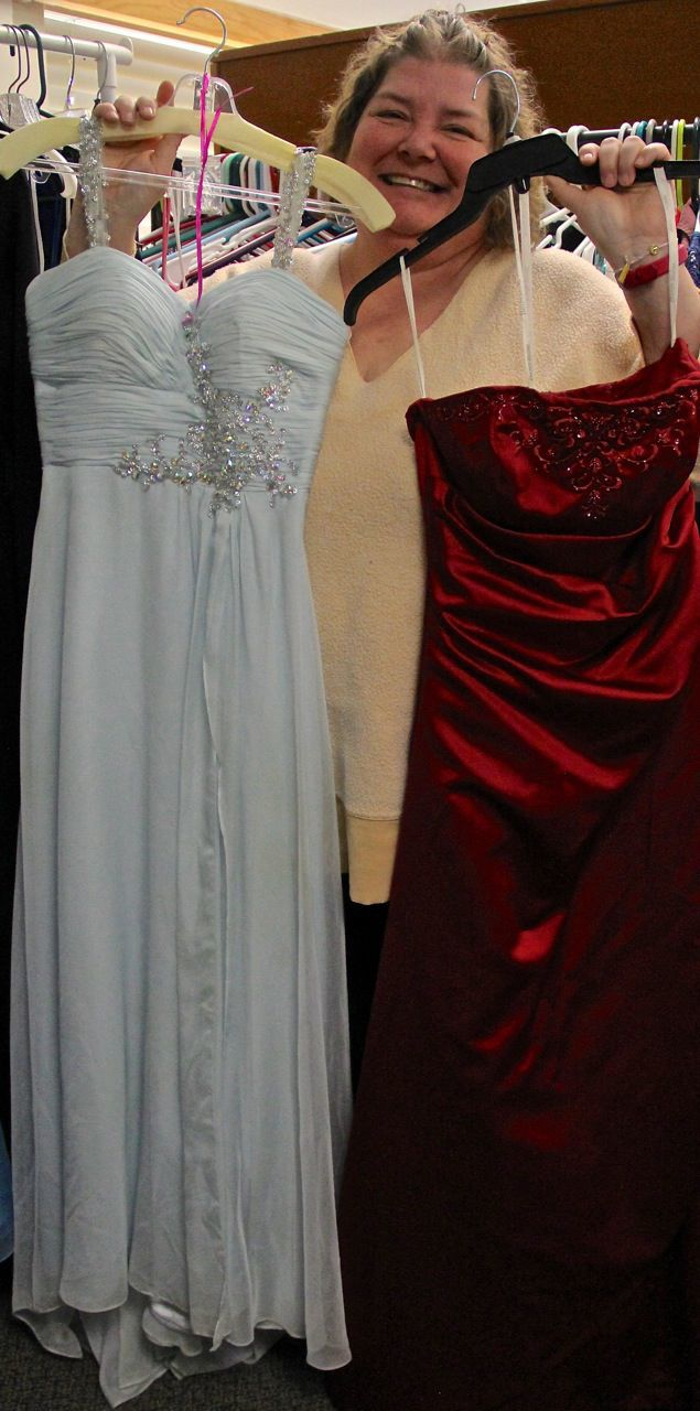 Donated prom dress
