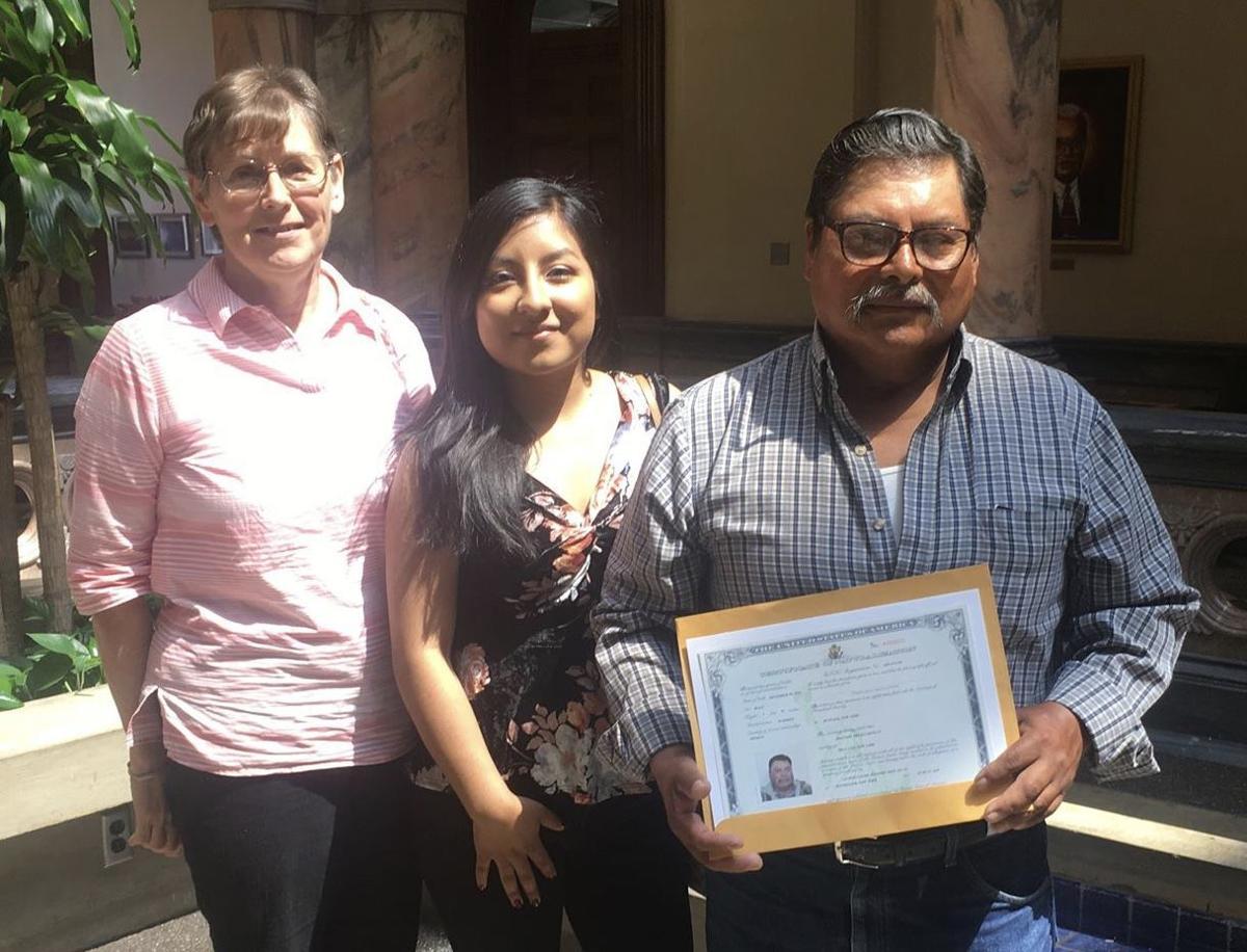 New citizen Delfino Ortiz Castillo