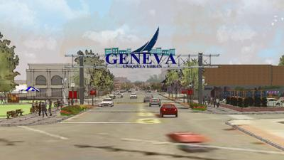 Geneva welcome sign