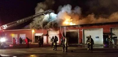 Sodus highway garage fire