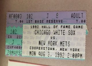 Hall of Fame game ticket