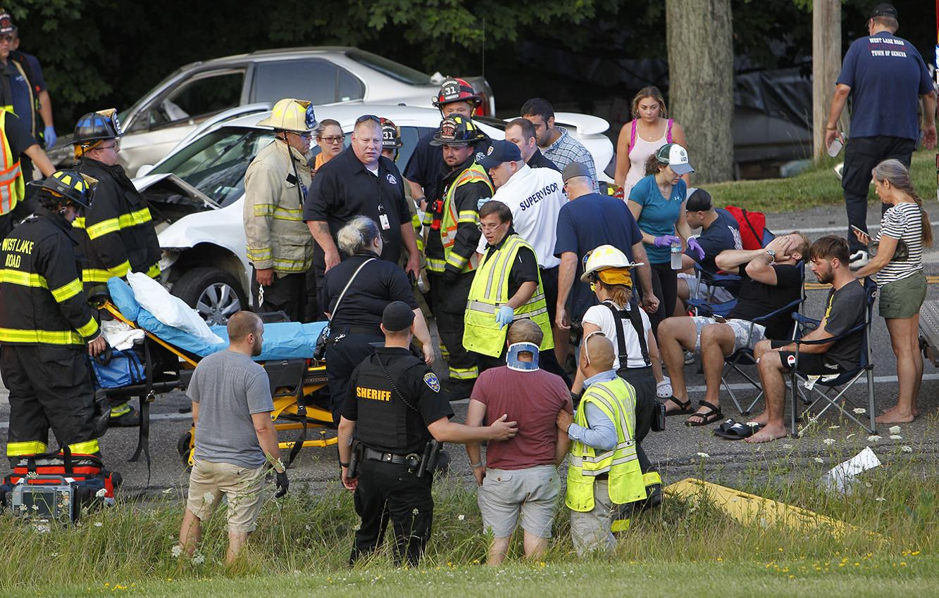 Crash shuts down Route 14 between Snell and Turk roads in Geneva