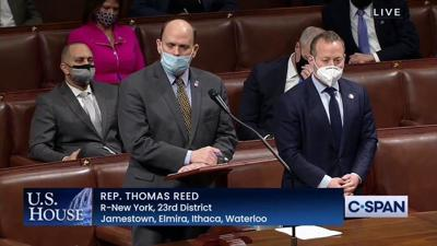 Reed on House floor