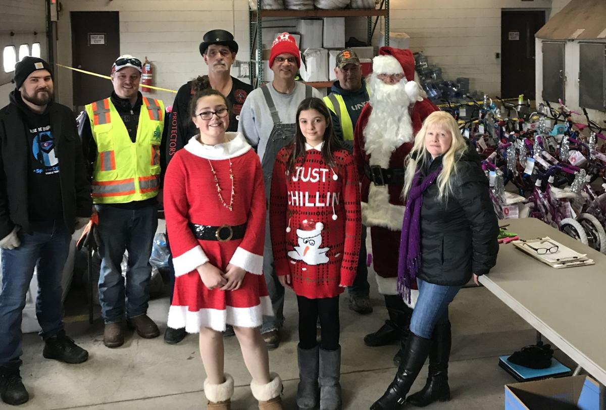 Building bikes for Christmas Promise