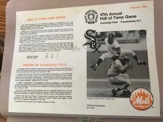 Hall of Fame game flyer