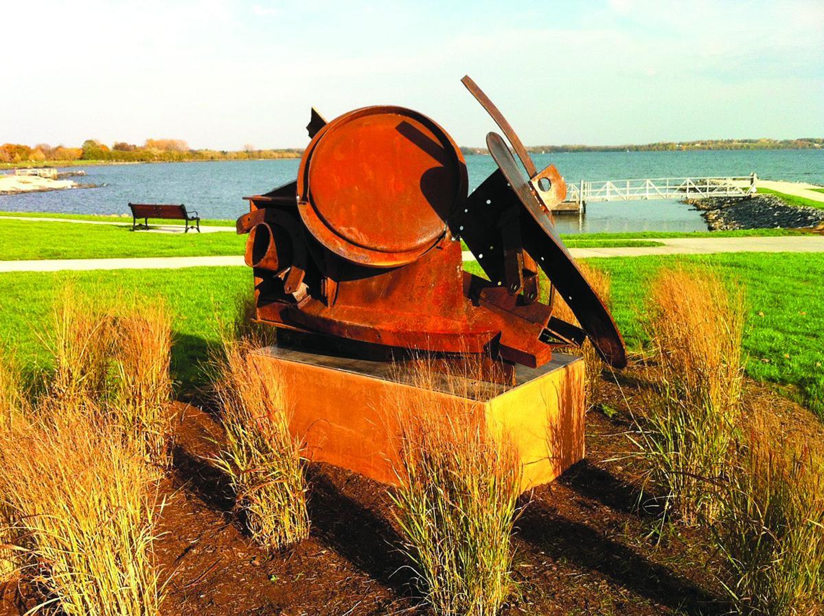 Lakefront sculptures