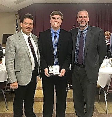 Hutteman received the outstanding youth award