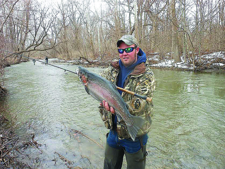 Outdoors naples creek rainbow trout derby kicks off for Trout fishing indiana