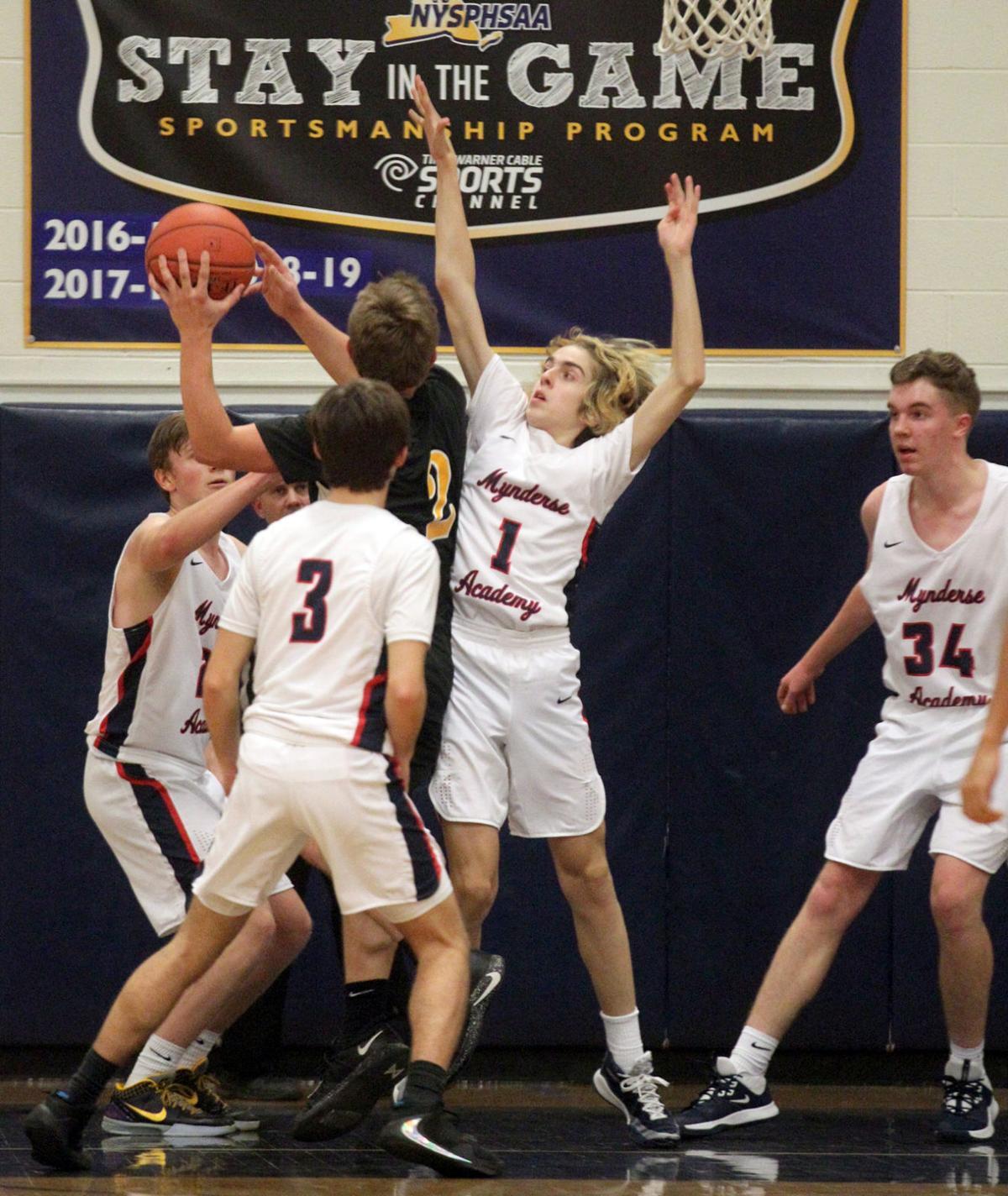 South Seneca at Mynderse boys basketball