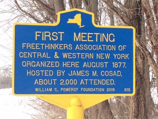 Huron historic marker
