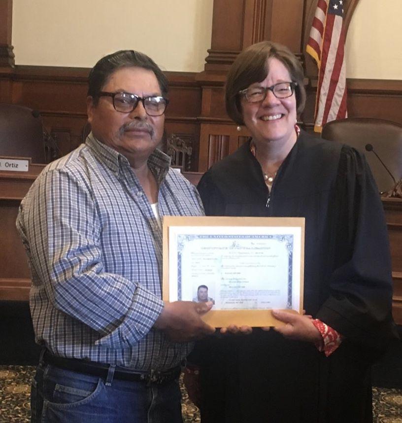 New citizen Defino Ortiz Castillo