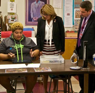 Helming tours Newark school district