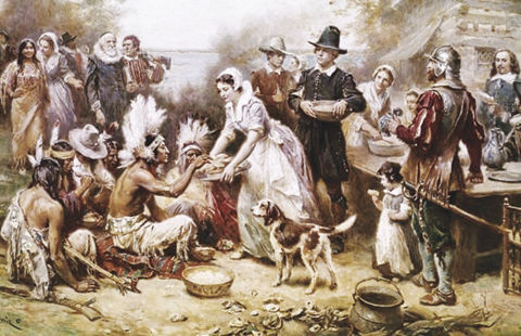 Thanksgiving 1621 feast