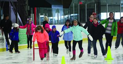 Skaters Make Their Way Around The Rink At Geneva Recreation Complex