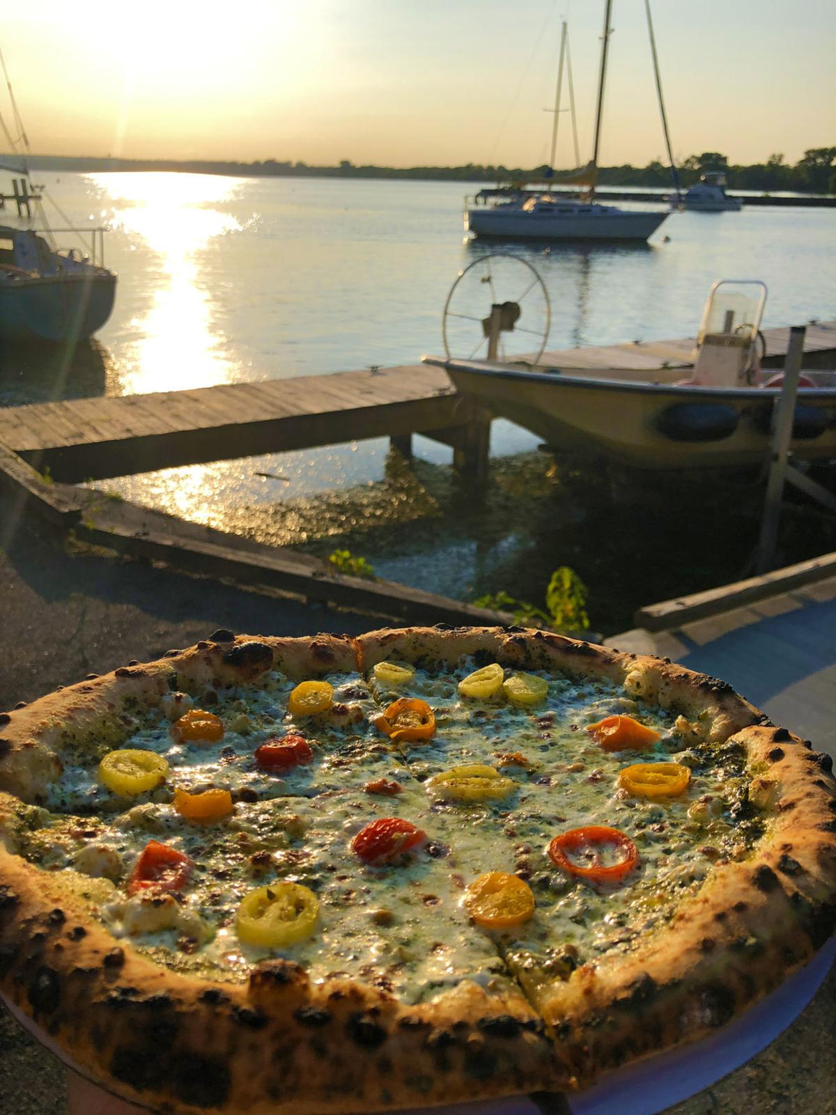 Pizza on the shore