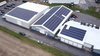Triplett Machine's new solar array