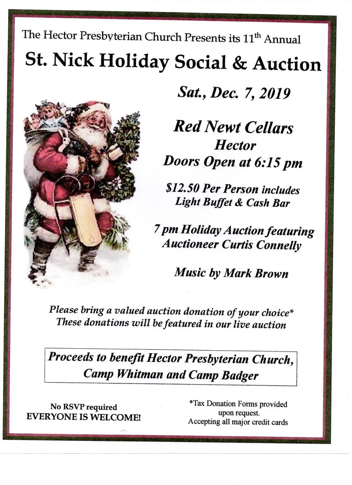 St. NIck's Holiday Social and Auction