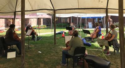 Outdoor cello lessons