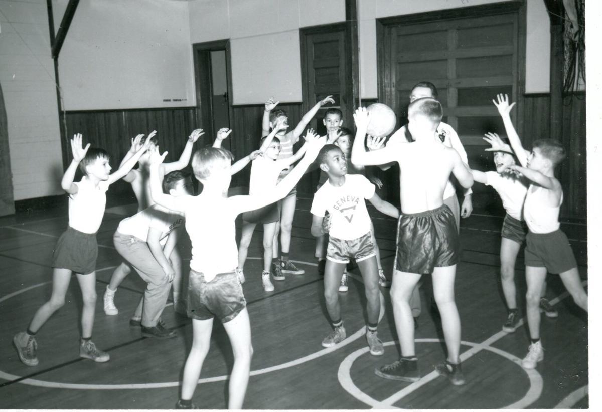 1955 YMCA basketball game