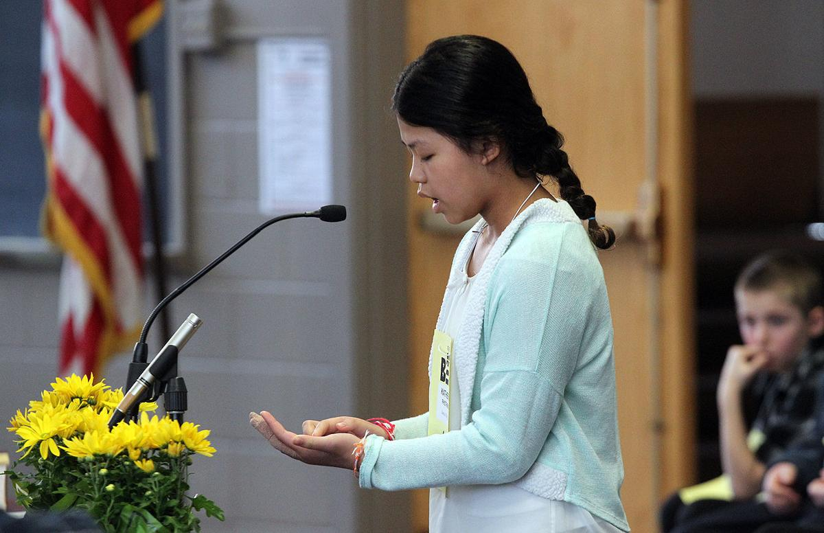 Gananda girl wins spelling bee duel