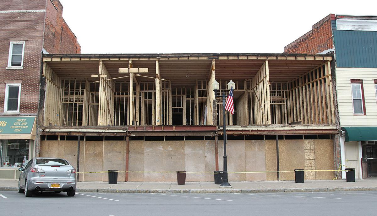 Former hardware store building in Geneva down to bare bones