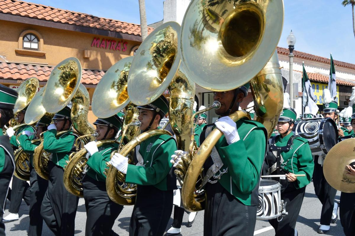 Kaiser Band and Color Guard members look forward to Rose