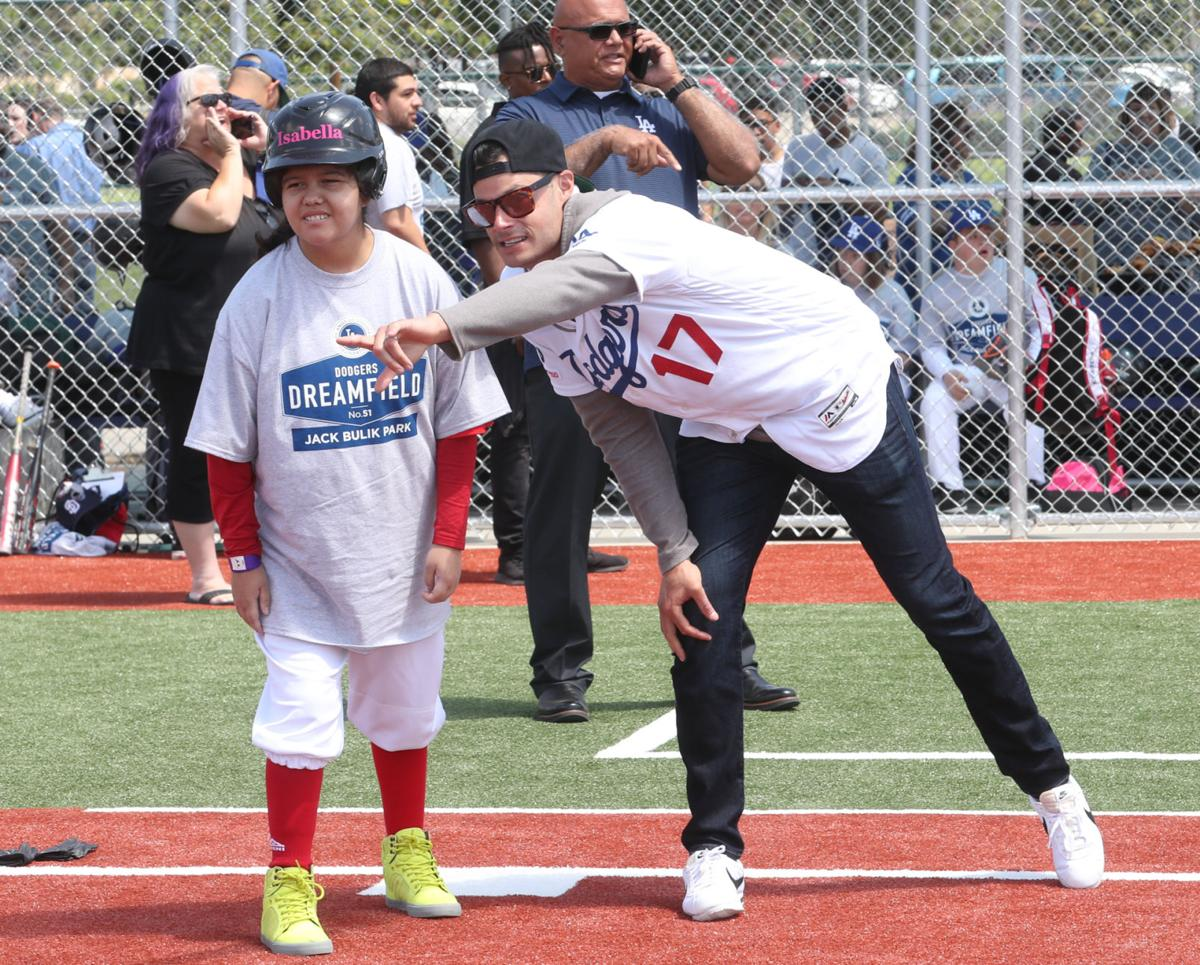 more photos c75b6 6e910 Dodgers Dreamfield officially opens in Fontana; pitcher Joe ...