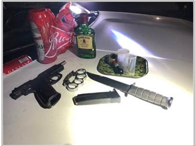 Stolen handgun