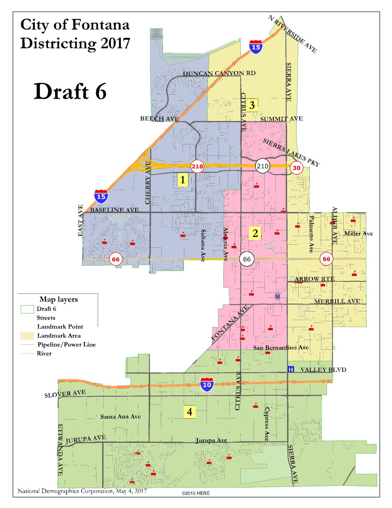 Fontana City Council decides on Draft 6 as the map to be used in