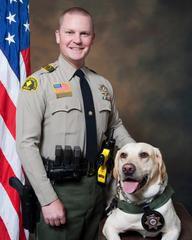 Deputy and dog