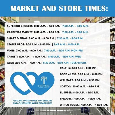 Markets and stores in Fontana