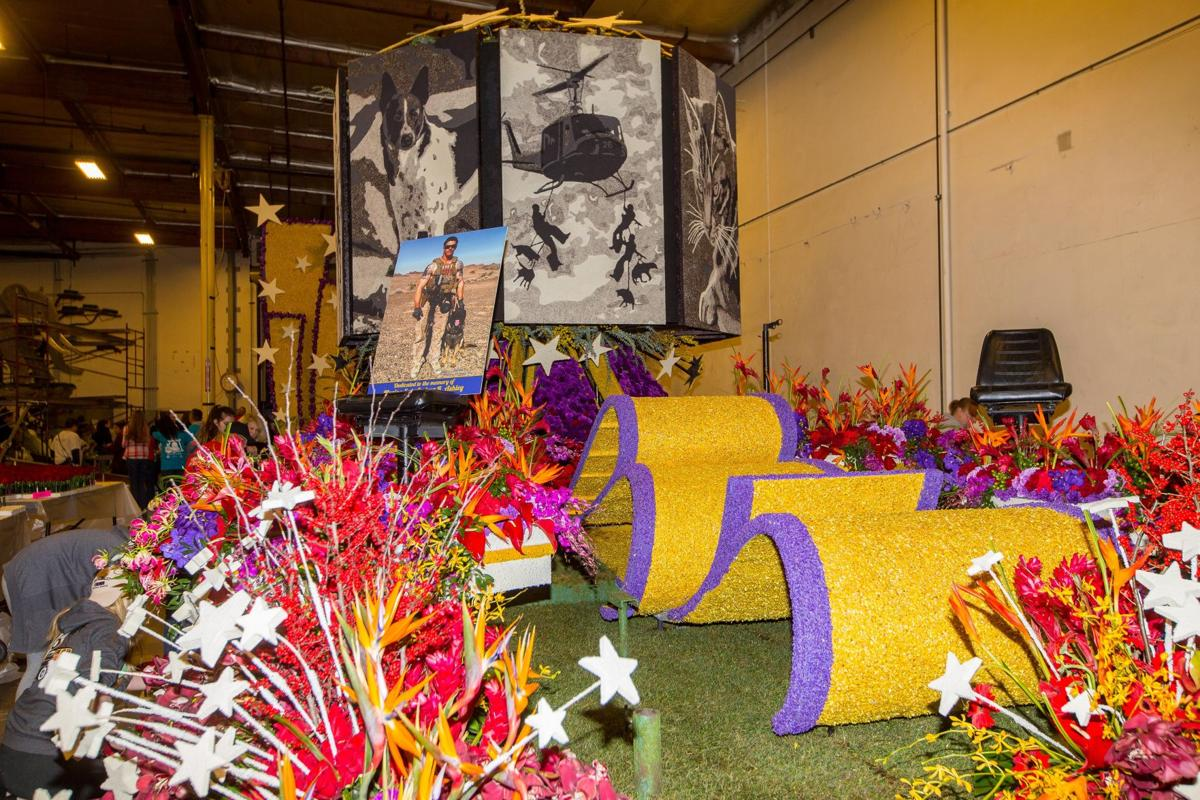 rose parade float pays tribute to marine who was an. Black Bedroom Furniture Sets. Home Design Ideas