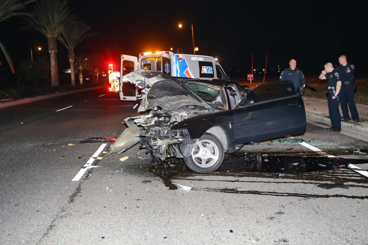 one person is injured in single-car collision in northwestern