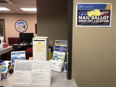 Mail ballot drop-off box