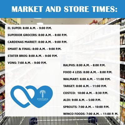 Market and store times