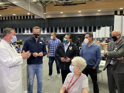 Gavin Newsom visits Loma Linda