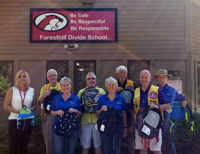 Foresthill Lions Deliver School Supplies