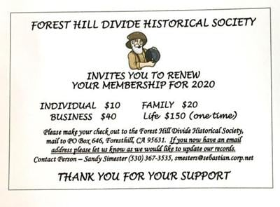 Forest Hill Divide Historical Society