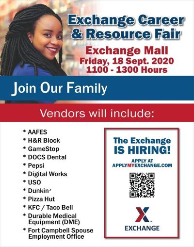 Exchange to host career, resource fair Sept. 18