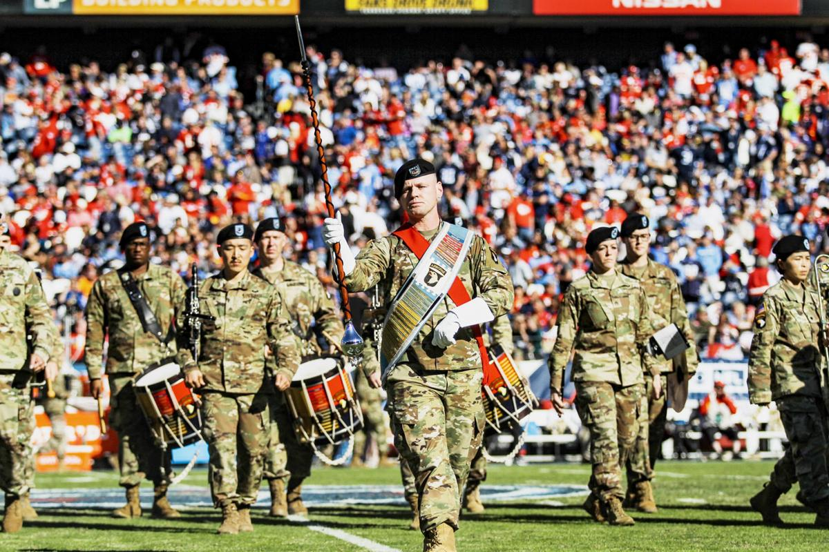 Celebrating veterans with the Titans