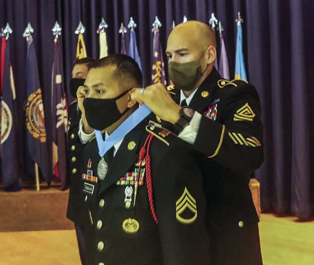 Two Soldiers inducted into local Sgt. Audie Murphy Club chapter