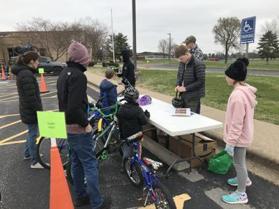 Eagle Scout teaches youth bicycle safety