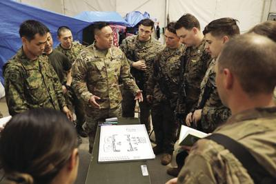Soldier uses language to build relationship with allied forces