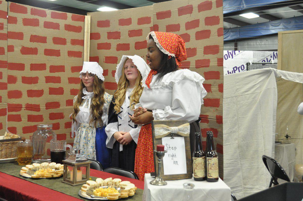 Middle school history class puts on colonial fair for community