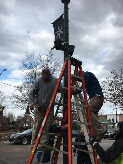 Wireless sound system adds music to downtown