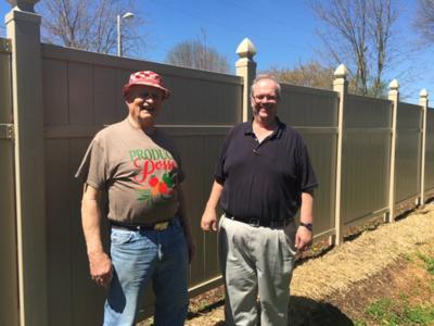 Franklin Lions Club replaces housing authority fencing